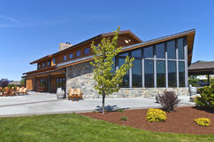 Mt Hood winery wine tasting building. Royalty Free Stock Photo