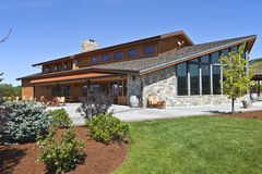 Mt Hood winery wine tasting building. Stock Photo