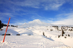 Mt. Hood in winter. (wide) Royalty Free Stock Image