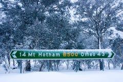 Mt Hotham nell'inverno fotografia stock libera da diritti