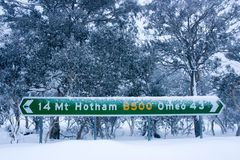 Mt Hotham in Winter Royalty Free Stock Photography