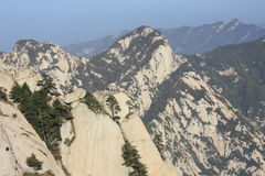Mt. Hua Chess Pavilion. Mount Hua, or Hua Shan (simplified Chinese: 华山),  is a mountain located near the city of Huayin in Shaanxi province, about 120 Stock Image