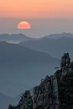 Mt Huangshan в Аньхое, Китае Стоковая Фотография