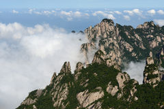 Mt. Huangshan and Cloudscape Royalty Free Stock Photos