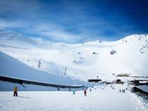 Mt Hutt, известное поле лыжи в Новой Зеландии Стоковые Фотографии RF