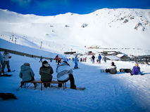Mt Hutt, das berühmte Skifeld in Neuseeland lizenzfreie stockbilder