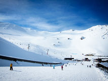 Mt Hutt, the famous ski field in New Zealand. With blue sky Royalty Free Stock Photos