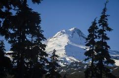 Mt Huv vinter, Oregon Arkivfoton