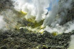 Mount Io-zan, naked mountain, Hokkaido, Japan stock photos