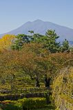 Mt Iwaki et Autumn Garden Photos stock