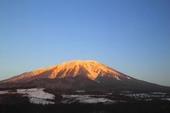 Mt.Iwate against blue sky Royalty Free Stock Image