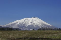 Mt.Iwate  and  blue  sky Royalty Free Stock Image