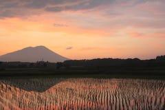Mt.Iwate nella penombra Fotografia Stock