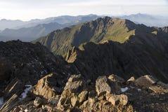 Mt. jade south peak in Taiwan. Royalty Free Stock Photo
