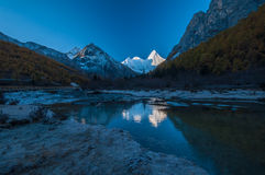 Mt.  Jampayang in Yading Stock Images