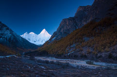Mt.  Jampayang in Yading Stock Photography