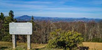 Mt Jefferson, Błękitny grani Parkway, Pólnocna Karolina, usa Obraz Royalty Free