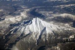 Mt. Jefferson, Oregon. An Aerial view of Mount Jefferson, Oregon royalty free stock photo