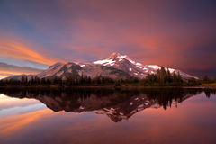 Mt. Jefferson Sunrise Stock Photos