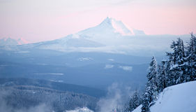 Mt Jefferson Three Sisters North Cascades Oregon Mountain Range Stock Photography