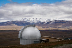 Mt John Observatory near Lake Tekapo, New Zealand Stock Image