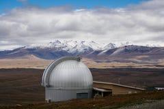 Mt John Observatory vicino al lago Tekapo, Nuova Zelanda Immagine Stock