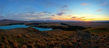 Mt John Obserwatorski Jeziorny Tekapo Nowa Zelandia zdjęcie stock