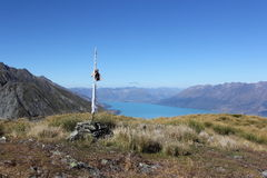 Mt Judah Summit, Lake Wakatipu Stock Images