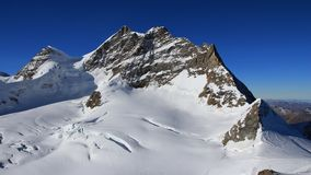 Mt Jungfrau, view from the Jungfraujoch Royalty Free Stock Photos