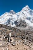 Mt 从Kala勃拉Patthar,尼泊尔的珠穆琅玛 库存图片
