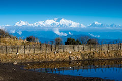 Mt Kanchenjunga,印度 库存图片