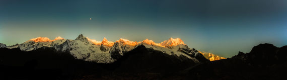 Mt kanchenjungha Immagine Stock