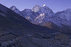Mt. Kangtega nel Nepal Immagine Stock