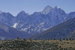 Mt. Kangtega in Nepal Royalty-vrije Stock Fotografie