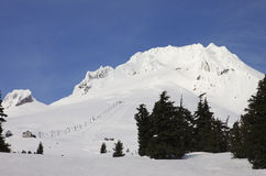 Mt. kap in de winter. Royalty-vrije Stock Foto's