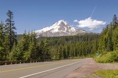 MT Kapwildernis en hwy-26 Oregon staat stock afbeelding