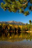 Mt. Katahdin. Fall reflection of Baxter State Park, Maine Royalty Free Stock Image