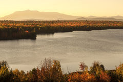 Mt Katahdin Maine. In northern Maine during the fall season Stock Photography