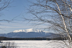 Mt. Katahdin. This is a photo of Mt. Katahdin located in Millinocket, Maine.  It is the final leg of the Appalachian National Scenic Trail which begins in the Royalty Free Stock Photography