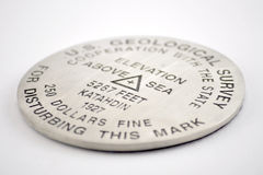 Mt. Katahdin Survey Marker Stock Photos