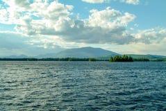 Mt Katahin from Ambajejus Lake Royalty Free Stock Photo