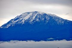 Mt Kilimanjaro - Moshi. Mt Kilimanjaro the highest mount in Africa which reaches 5,895 metros at Kibo peak Royalty Free Stock Images