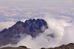 Mt Kilimanjaro - Moshi. Mt Kilimanjaro the highest mount in Africa which reaches 5,895 metros at Kibo peak Stock Photo