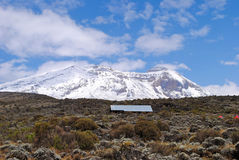 Mt Kilimanjaro - Moshi. Mt Kilimanjaro the highest mount in Africa which reaches 5,895 metros at Kibo peak Royalty Free Stock Photography