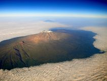 Mt Kilimanjaro - Moshi. Mt Kilimanjaro the highest mount in Africa which reaches 5,895 metros at Kibo peak Royalty Free Stock Image