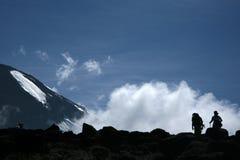 Mt Kilimanjaro, Tanzania, Afrika Fotografering för Bildbyråer
