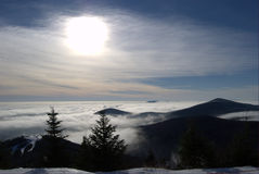 Mt. Killington. Sky peak at mount Killington Stock Photography