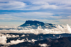 Mt. Kinabalu in clouds at Borneo from mt. Royalty Free Stock Photo