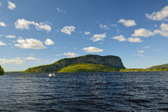 Mt. Kineo on Moose Head lake In Central Maine. On a gorgeous Summer day Stock Photography