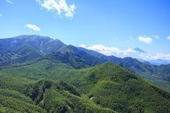 Mt Kinpou和Mt 富士 免版税库存照片